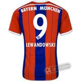Camisa Bayern München - Modelo I - LEWANDOWSKI #9