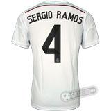 Camisa Real Madrid - Modelo I - SERGIO RAMOS #4