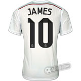 Camisa Real Madrid - Modelo I - JAMES #10