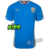 Camisa Uruguai - Modelo I - Infantil
