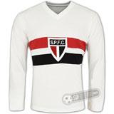 Camisa São Paulo da Floresta 1933 - Modelo I - Manga Longa - Liga Retrô