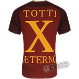 Camisa Roma - Modelo I (TOTTI ÆTERNO X)