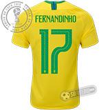Camisa Brasil - Modelo I (FERNANDINHO #17)