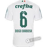 Camisa Palmeiras - Modelo II (DIOGO BARBOSA #6)
