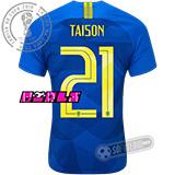 Camisa Brasil - Modelo II Feminina (TAISON #21)