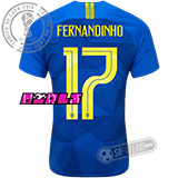 Camisa Brasil - Modelo II Feminina (FERNANDINHO #17)