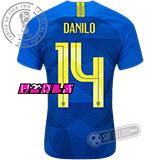 Camisa Brasil - Modelo II Feminina (DANILO #14)