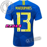 Camisa Brasil - Modelo II Feminina (MARQUINHOS #13)