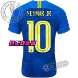 Camisa Brasil - Modelo II Feminina (NEYMAR JR #10)