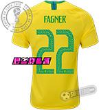 Camisa Brasil - Modelo I Feminina (FAGNER #22)