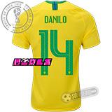 Camisa Brasil - Modelo I Feminina (DANILO #14)