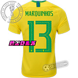 Camisa Brasil - Modelo I Feminina (MARQUINHOS #13)