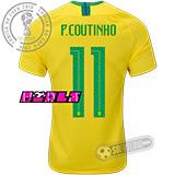 Camisa Brasil - Modelo I Feminina (P. COUTINHO #11)