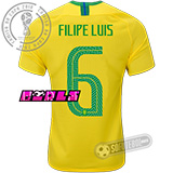 Camisa Brasil - Modelo I Feminina (FILIPE LUIS #6)