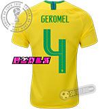 Camisa Brasil - Modelo I Feminina (GEROMEL #4)