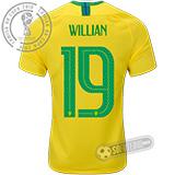 Camisa Brasil - Modelo I (WILLIAN #19)