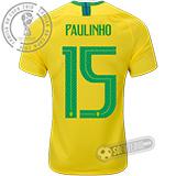 Camisa Brasil - Modelo I (PAULINHO #15)