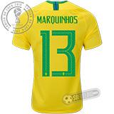 Camisa Brasil - Modelo I (MARQUINHOS #13)