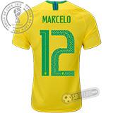 Camisa Brasil - Modelo I (MARCELO #12)