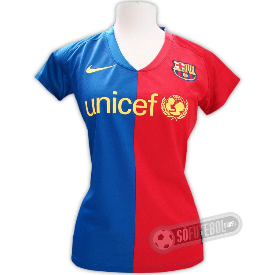 b042e2df40794 Camisa Oficial Barcelona - Feminina - Promoção