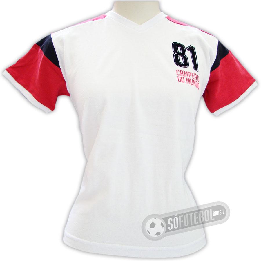 7b7d37e307f3f Camisa Flamengo 1981 - Modelo II - Infantil - Liga Retrô - Promoção