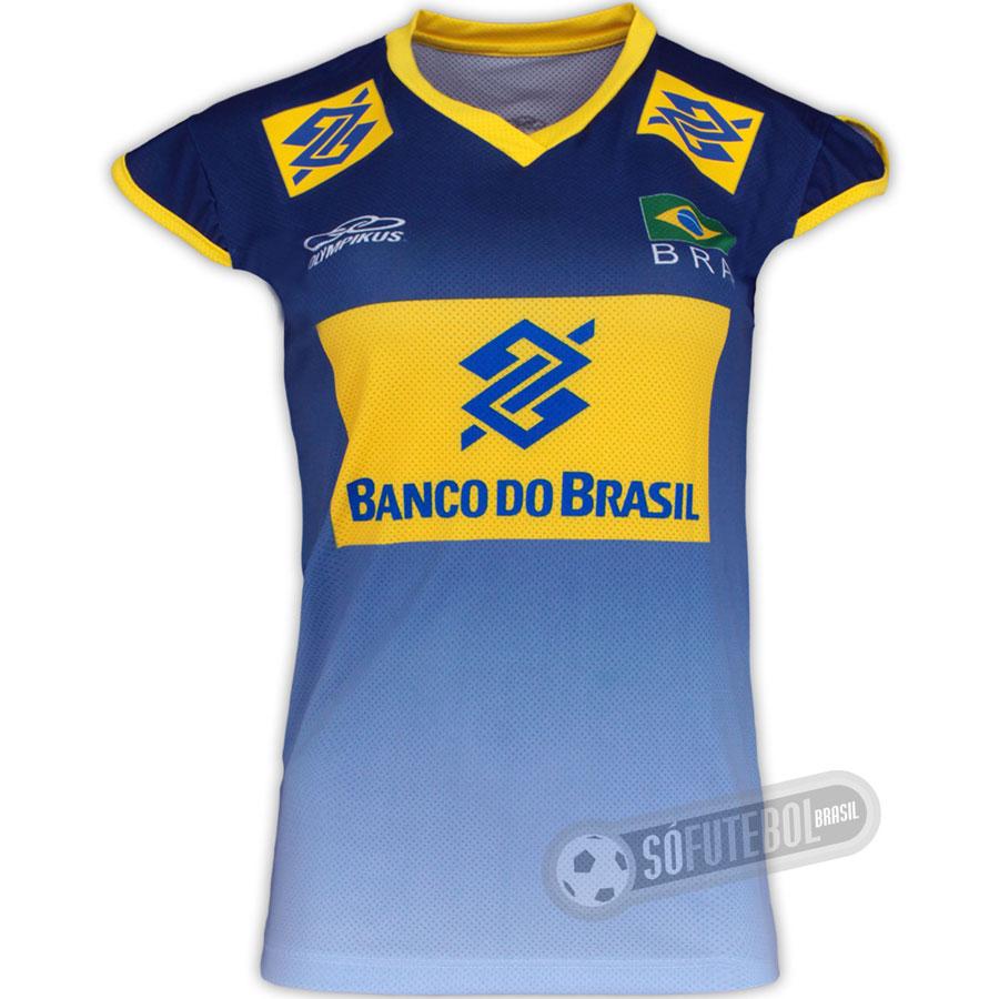 Camisa Oficial Vôlei Brasil - Feminina - Promoção ed6e8f5035caa