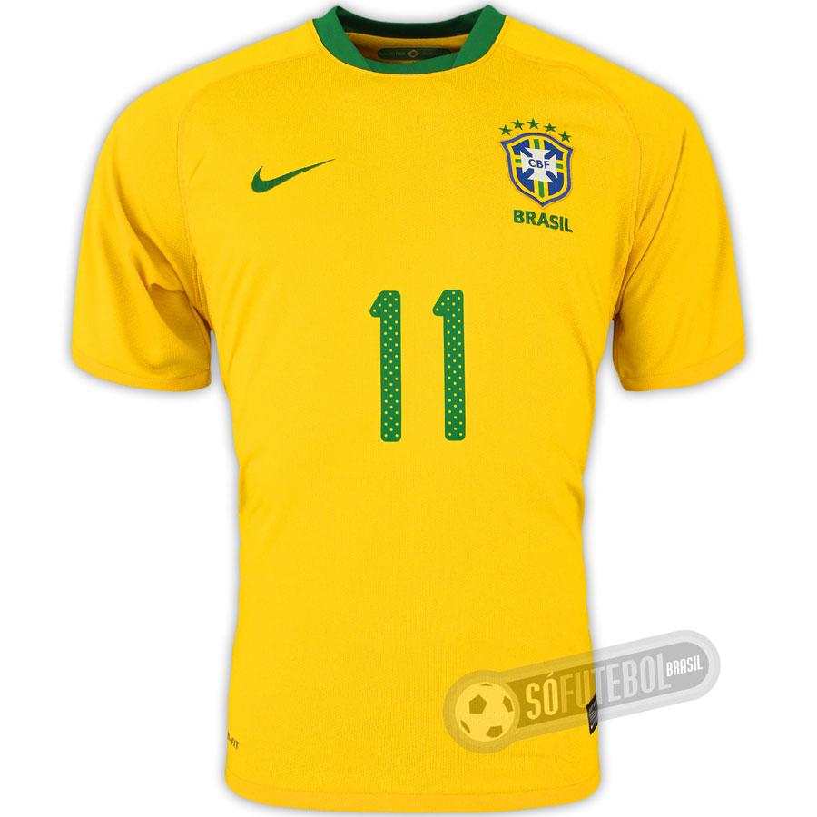 Camisa Oficial Brasil - Modelo I - Nike Réplica - com Número - Promoção.  Carregando. efc61c568b406