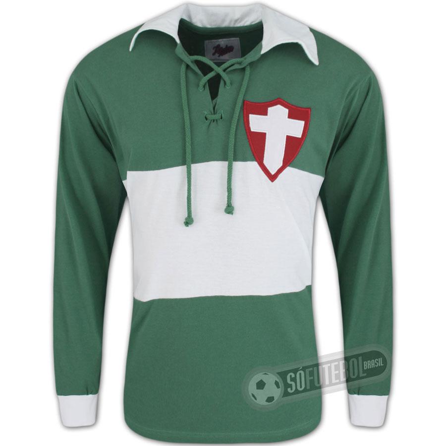 dcc1824d69 Camisa Palmeiras - Palestra Itália 1915 - Manga Longa - Liga Retrô