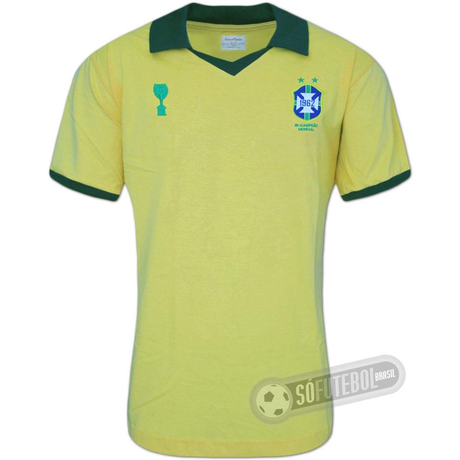 d7169fd85 Camisa Brasil 1962 - Modelo I. Carregando.