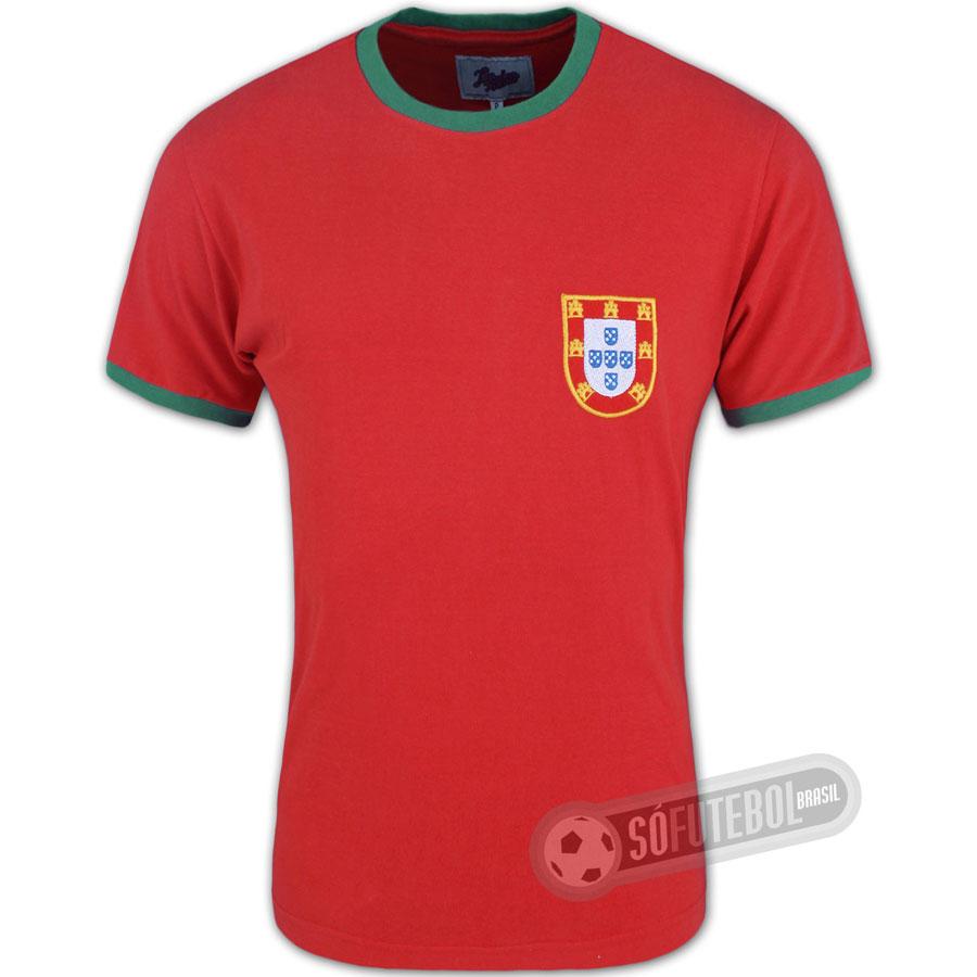 197d8bdf3 Camisa Portugal 1960 - Modelo I - Liga Retrô