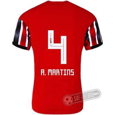 Camisa São Paulo - Modelo II (A. MARTINS #4)