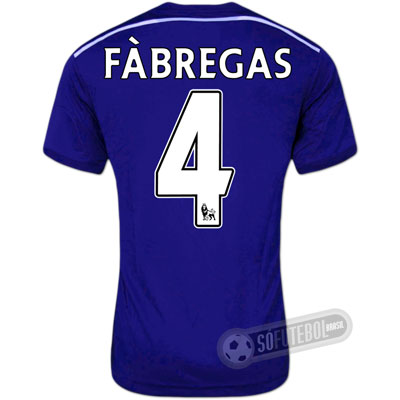 Camisa Chelsea - Modelo I - FÀBREGAS #4