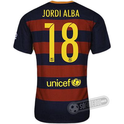 Camisa Barcelona - Modelo I - JORDI ALBA #18