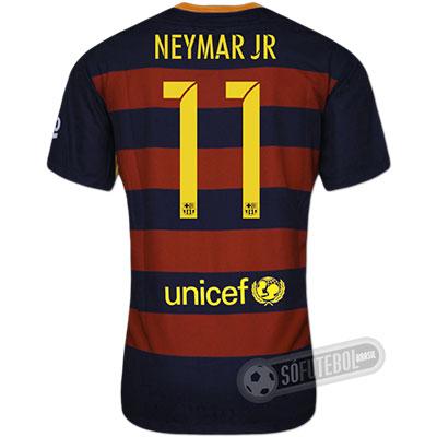 Camisa Barcelona - Modelo I - NEYMAR JR #11