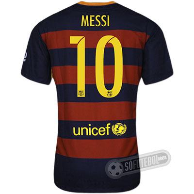 Camisa Barcelona - Modelo I - MESSI #10