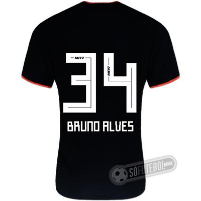 Camisa São Paulo - Modelo II (BRUNO ALVES #34)