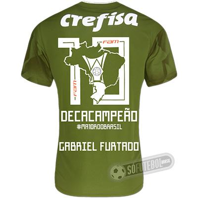 Camisa Palmeiras Edição Limitada (GABRIEL FURTADO) - Decacampeão Brasileiro