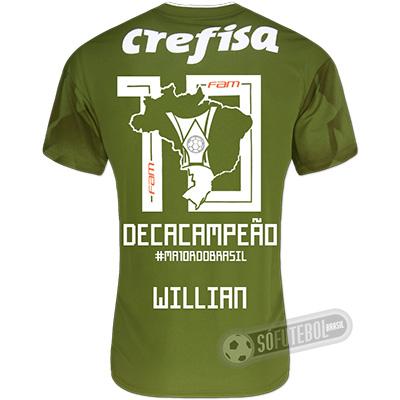 Camisa Palmeiras Edição Limitada (WILLIAN) - Decacampeão Brasileiro
