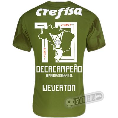 Camisa Palmeiras Edição Limitada (WEVERTON) - Decacampeão Brasileiro
