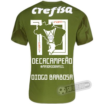 Camisa Palmeiras Edição Limitada (DIOGO BARBOSA) - Decacampeão Brasileiro