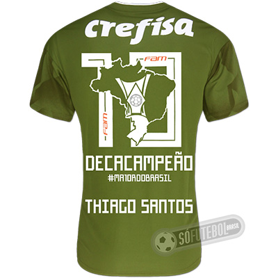 Camisa Palmeiras Edição Limitada (THIAGO SANTOS) - Decacampeão Brasileiro