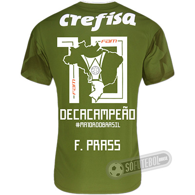 Camisa Palmeiras Edição Limitada (F. PRASS) - Decacampeão Brasileiro