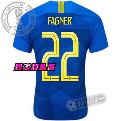 Camisa Brasil - Modelo II Feminina (FAGNER #22)