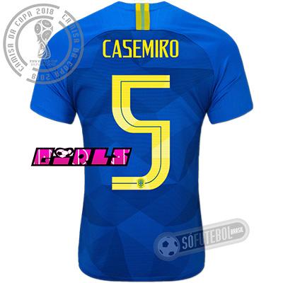 Camisa Brasil - Modelo II Feminina (CASEMIRO #5)