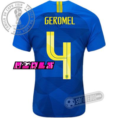 Camisa Brasil - Modelo II Feminina (GEROMEL #4)