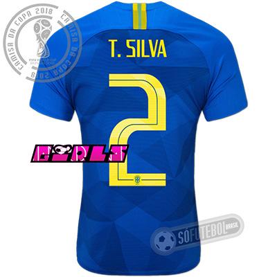 Camisa Brasil - Modelo II Feminina (T. SILVA #2)