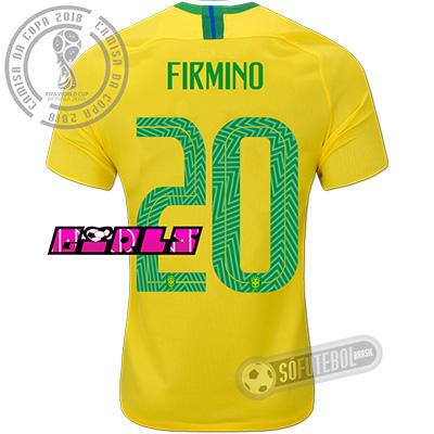 Camisa Brasil - Modelo I Feminina (FIRMINO #20)