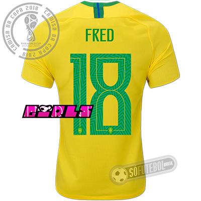 Camisa Brasil - Modelo I Feminina (WILLIAN #19)