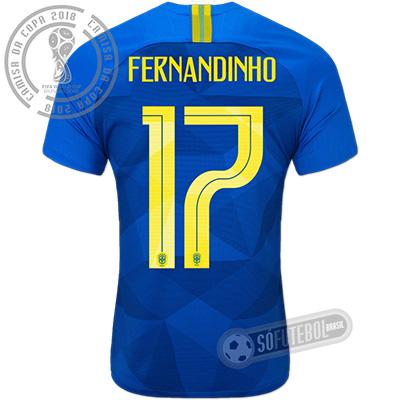 Camisa Brasil - Modelo II (FERNANDINHO #17)
