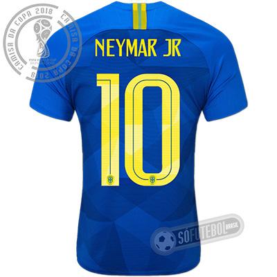 Camisa Brasil - Modelo II (NEYMAR JR #10)